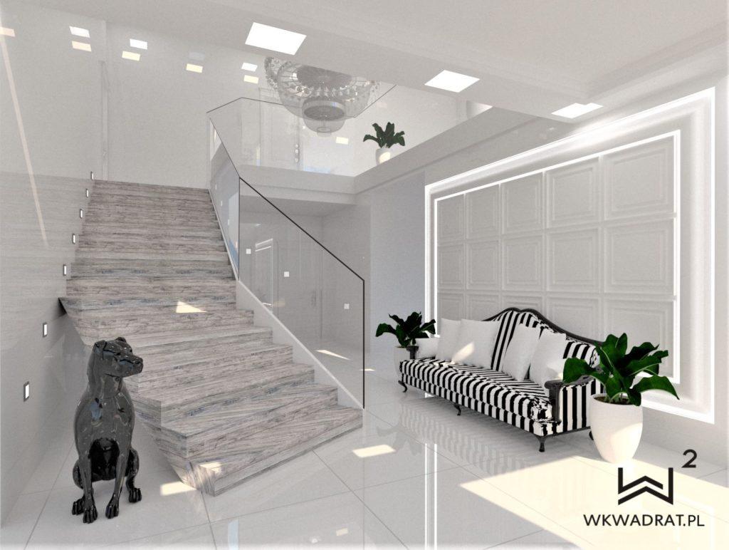 PROJEKTOWANIE I ARANŻACJA - ARCHITEKT WNĘTRZ OSTRÓDA 1-aranzacja-holu-w-domu-glamour-pracownia-wkwadrat-pl
