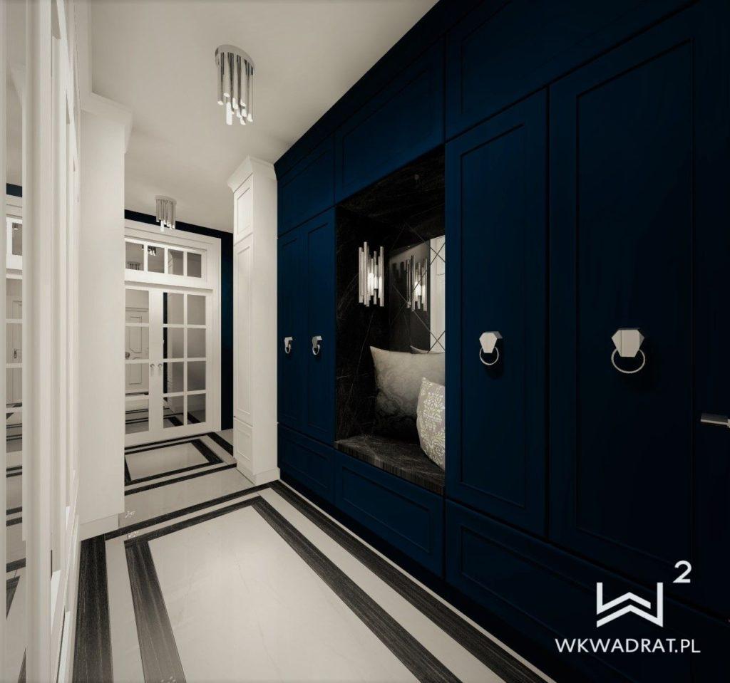 PROJEKTOWANIE I ARANŻACJA - ARCHITEKT WNĘTRZ OSTRÓDA projekt-aranzacji-hol-niebieski-apartamentu-4-projektowanie-wnętrz-pracownia-wkwadrat-1